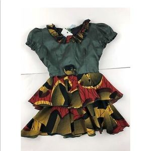 Other - african dress red green yellow girls 3t